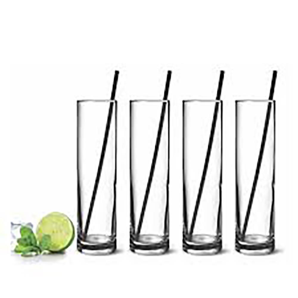 MOJITO GLASSES & STRAWS