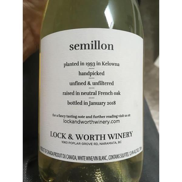 LOCK & WORTH SEMILLON