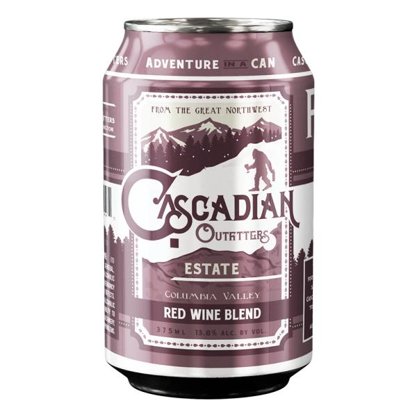CASCADIAN OUTFITTERS RED WINE IN A CAN