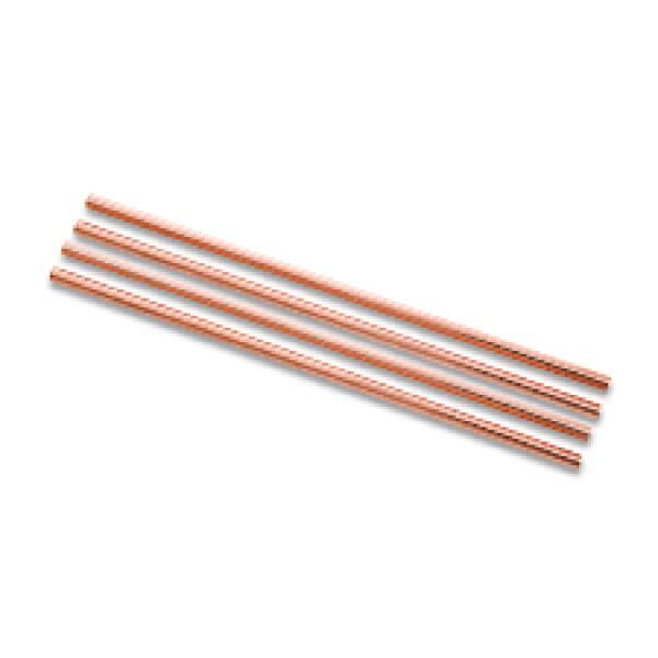 COPPER PLATED STRAWS SET
