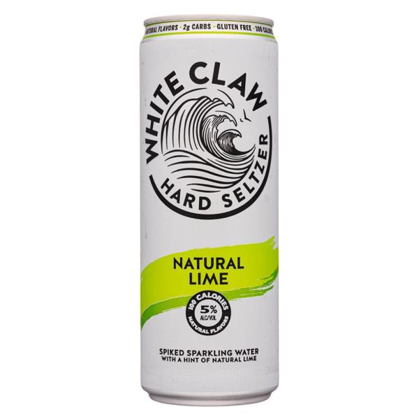 WHITE CLAW NATURAL LIME 6 PK