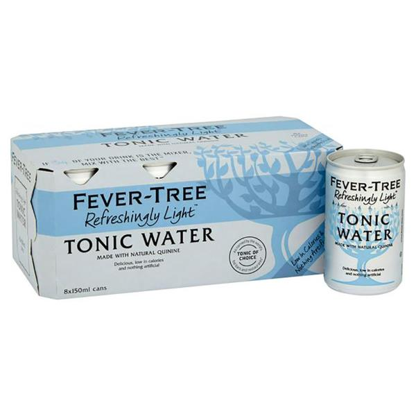 FEVER TREE TONIC WATER LIGHT 8X150ML