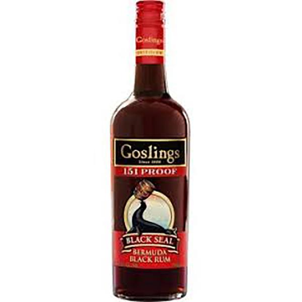 GOSLING'S 151 PROOF BLACK SEAL RUM
