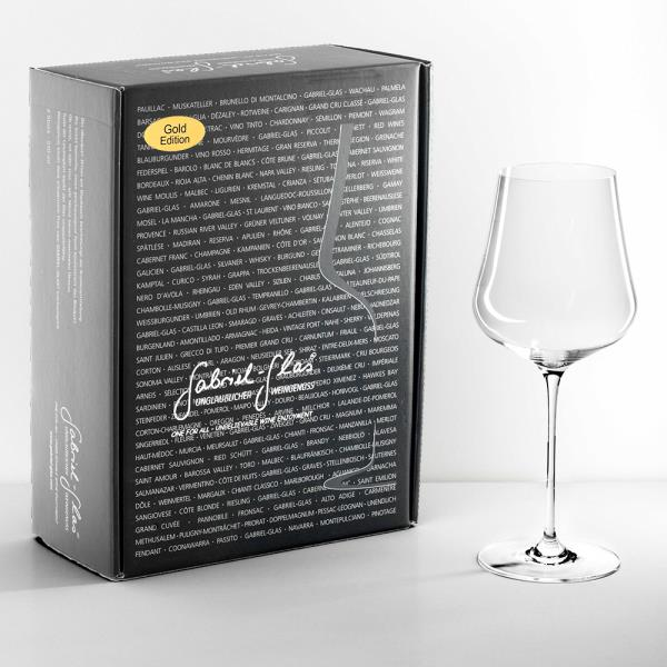 GABRIEL-GLAS 2-GLASS GIFT BOX GOLD EDITI