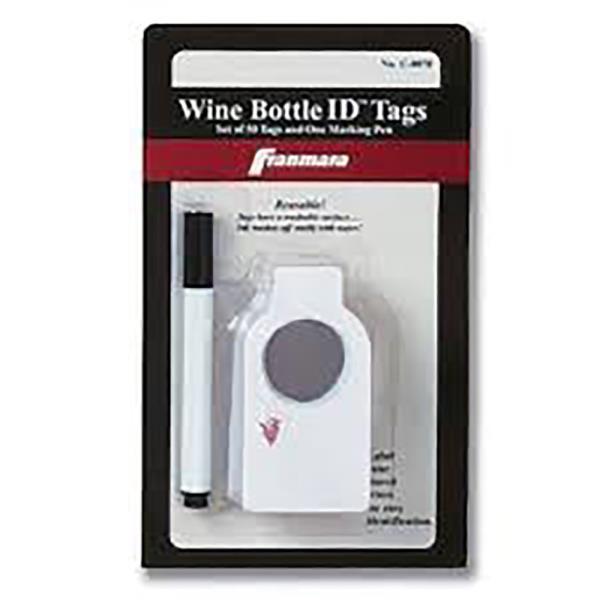 WINE BOTTLE TAGS W/ PEN