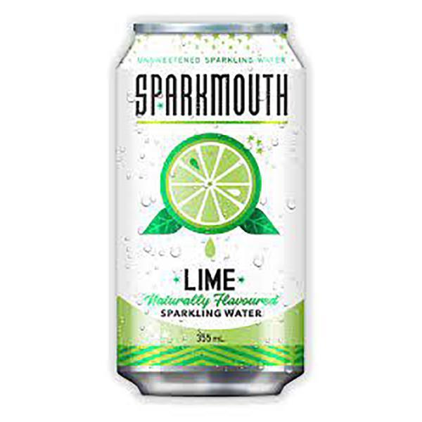 SPARKMOUTH SPARKLING WATER LIME CAN